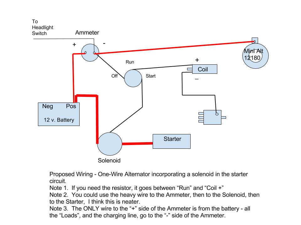 single wire alternator wiring diagram  wiring diagram for
