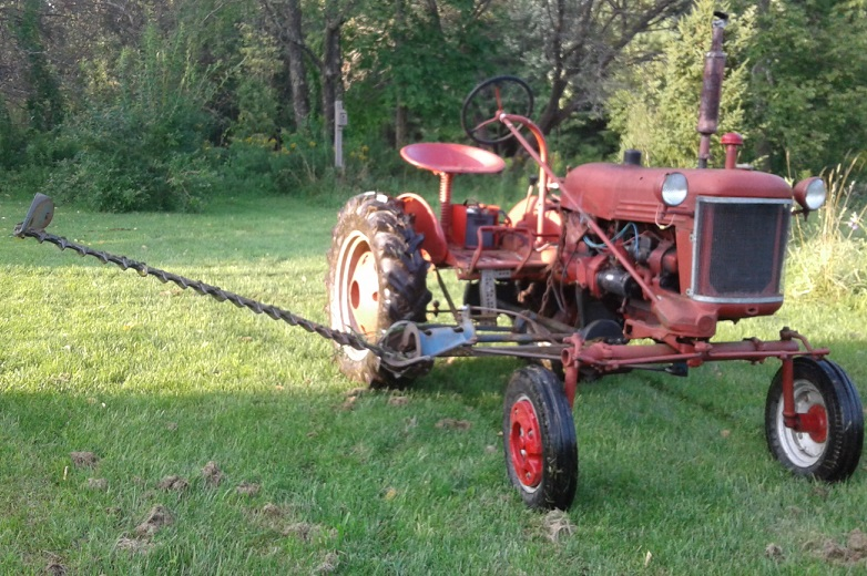 angle of cub-22 sickle mower adjustment - Farmall Cub